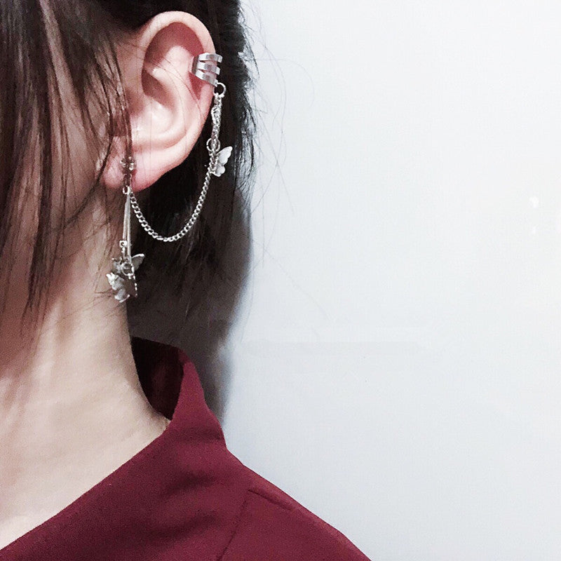 """BUTTERFLY EAR BONE CLIP"" EARRINGS D042214"