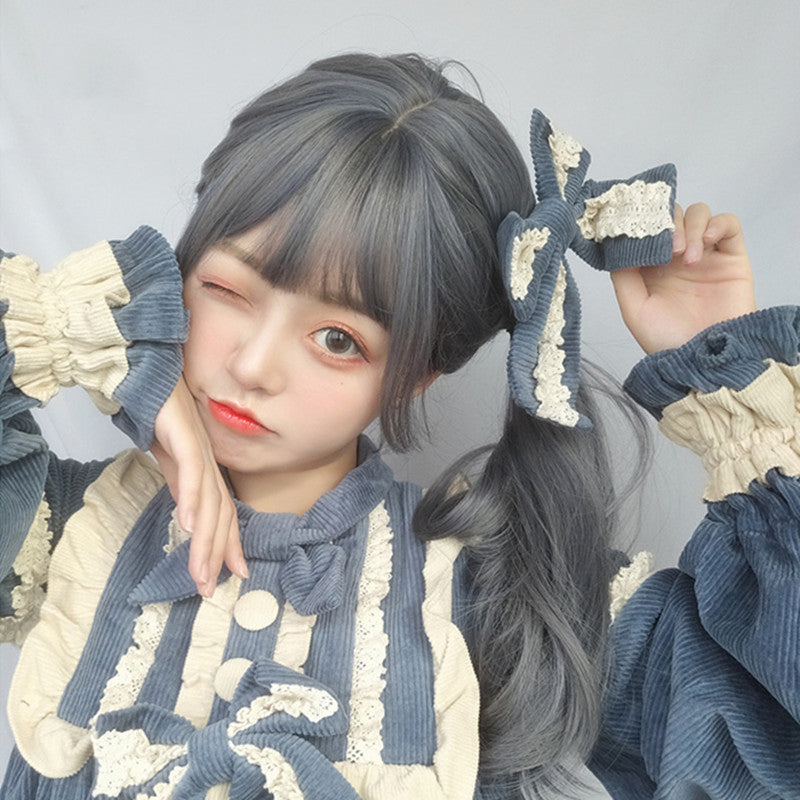 """BLUE GRAY LOLITA LONG"" WIG D050411"