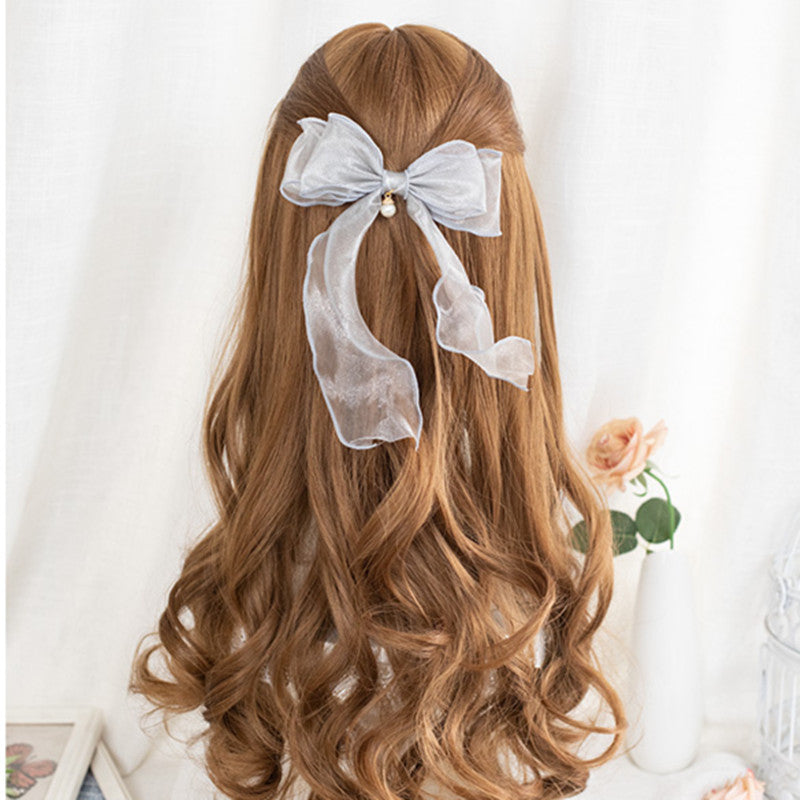 """BROWN BIG WAVY LONG CURLY"" WIG D050508"