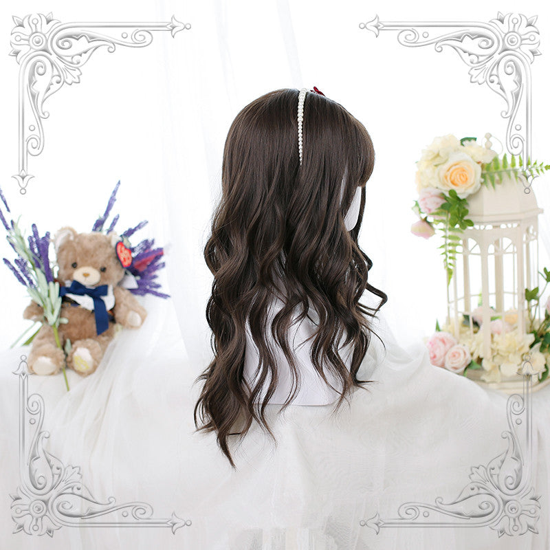 """BROWN BIG  WAVY LONG CURLY"" WIG D050514"