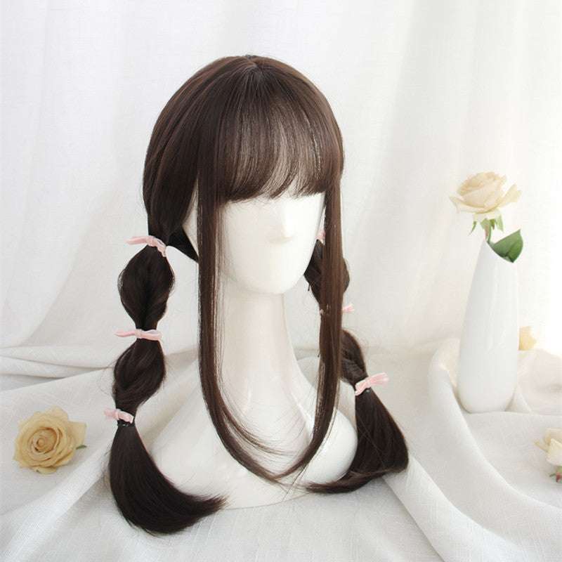 """DARK BROWN SWEET LONG STRAIGHT"" WIG D050409"