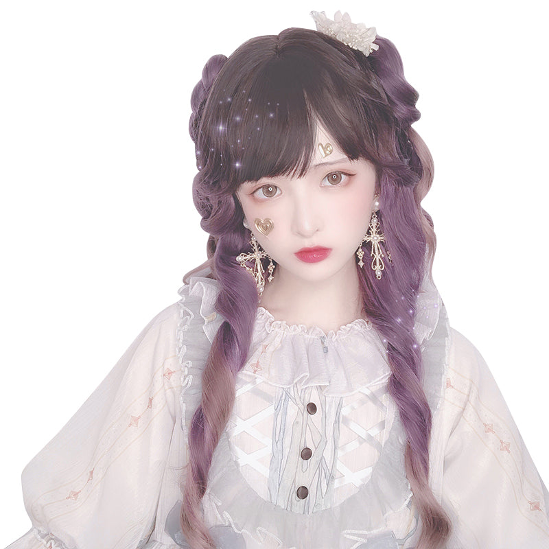 """ROSE PURPLE GRADIENT LONG"" WIG D071506"