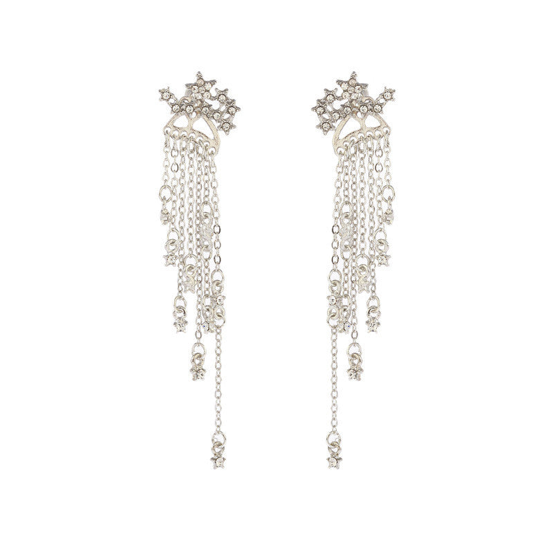"""STAR TASSEL"" EARRINGS D042205"