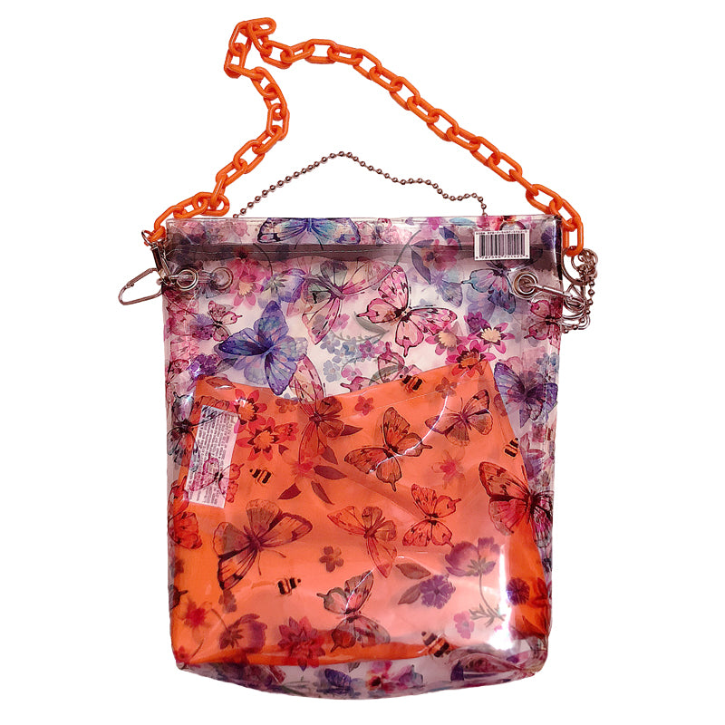 """BUTTERFLY ORANGE CHAIN"" PVC BAG D050803"