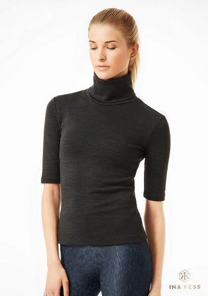 MERINO STRETCH MID SLEEVE CARBONE