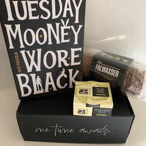 Crime Fiction Gift Box | Tuesday Mooney Wore Black, by Kate Racculia