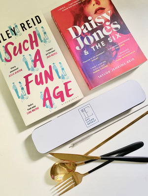 2 Books & Reusable cutlery & straw set
