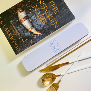 1 Book & Reusable cutlery & straw set