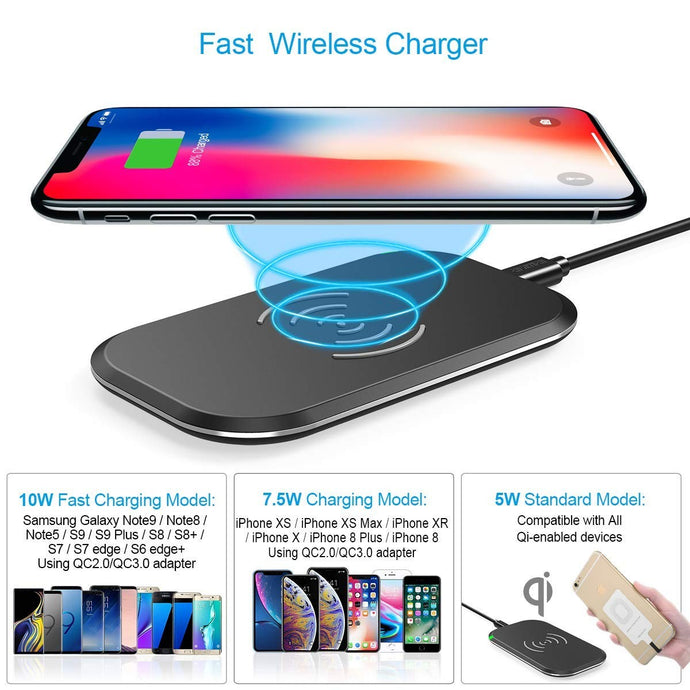Wireless Charging Pad - QI Certified - yubti.com