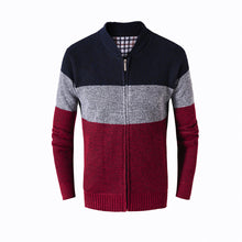 Load image into Gallery viewer, Men Casual Autumn Winter Swearshirt Zip Warm Outwear Long Sleeve  Jacket Coat - yubti.com