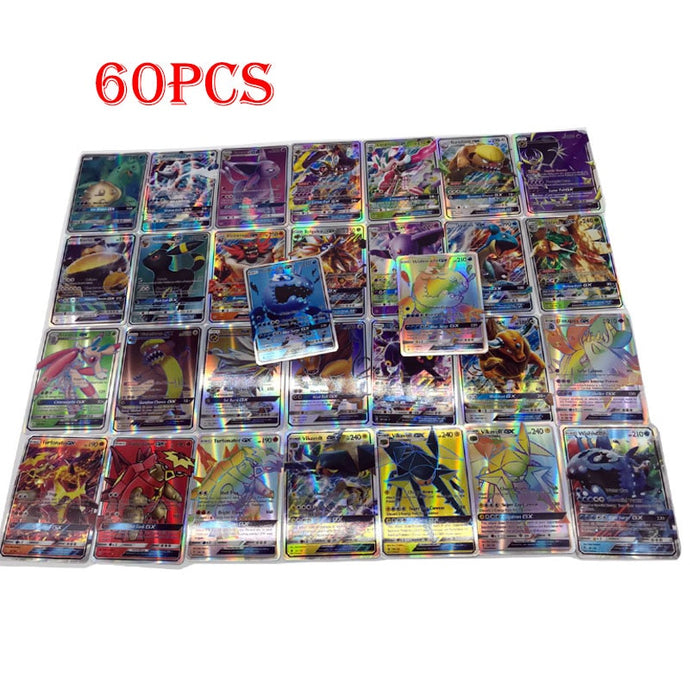 60 Pcs Trading Cards Game toys for Children Pokemons Toy  GX MEGA Shining Cards Game Battle Carte - yubti.com