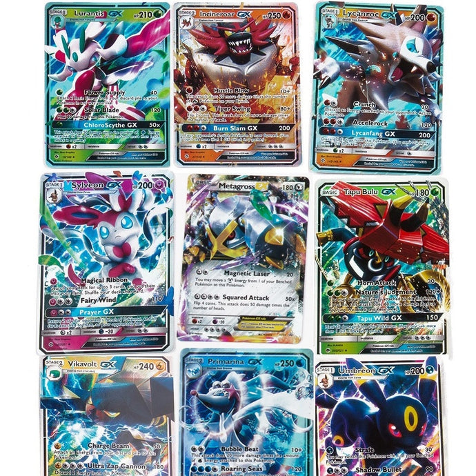 200 Pcs GX MEGA Shining Cards Game Battle Carte Trading Cards Game Children Pokemons Toy - yubti.com