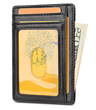 Load image into Gallery viewer, Slim Minimalist Front Pocket RFID Blocking Leather Wallets for Men & Women - yubti.com