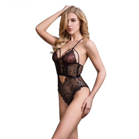 Strappy Bust Lace Lingerie Teddy