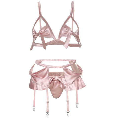 For the Frill Of It Satin Bra Set