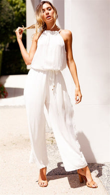 Women's jumpsuit fashion casual off-the-shoulder jumpsuit female Europe and America