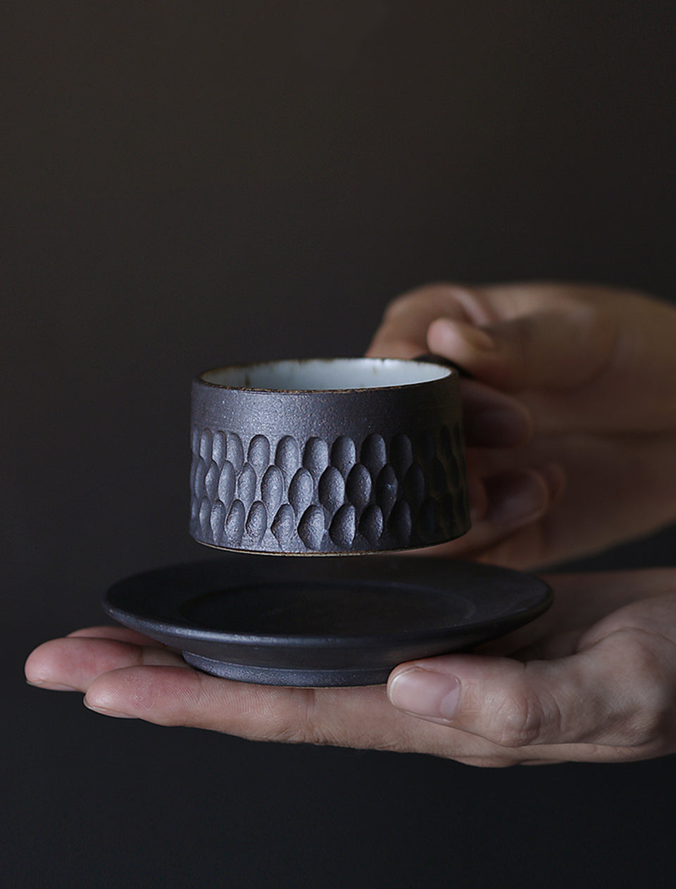 Right at My Fingertips Rustic Artisan Espresso Cup with Saucer