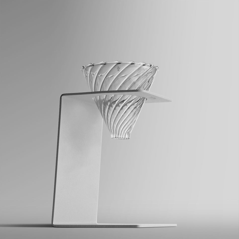 Black & White Modern Pour-Over Coffee Dripper Stand