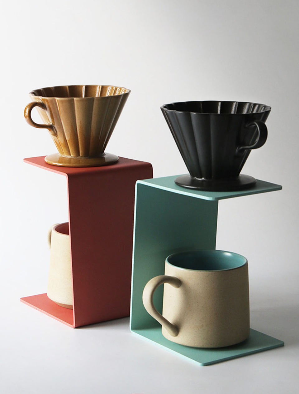 Handmade Modern Pour-Over Coffee Dripper Stand