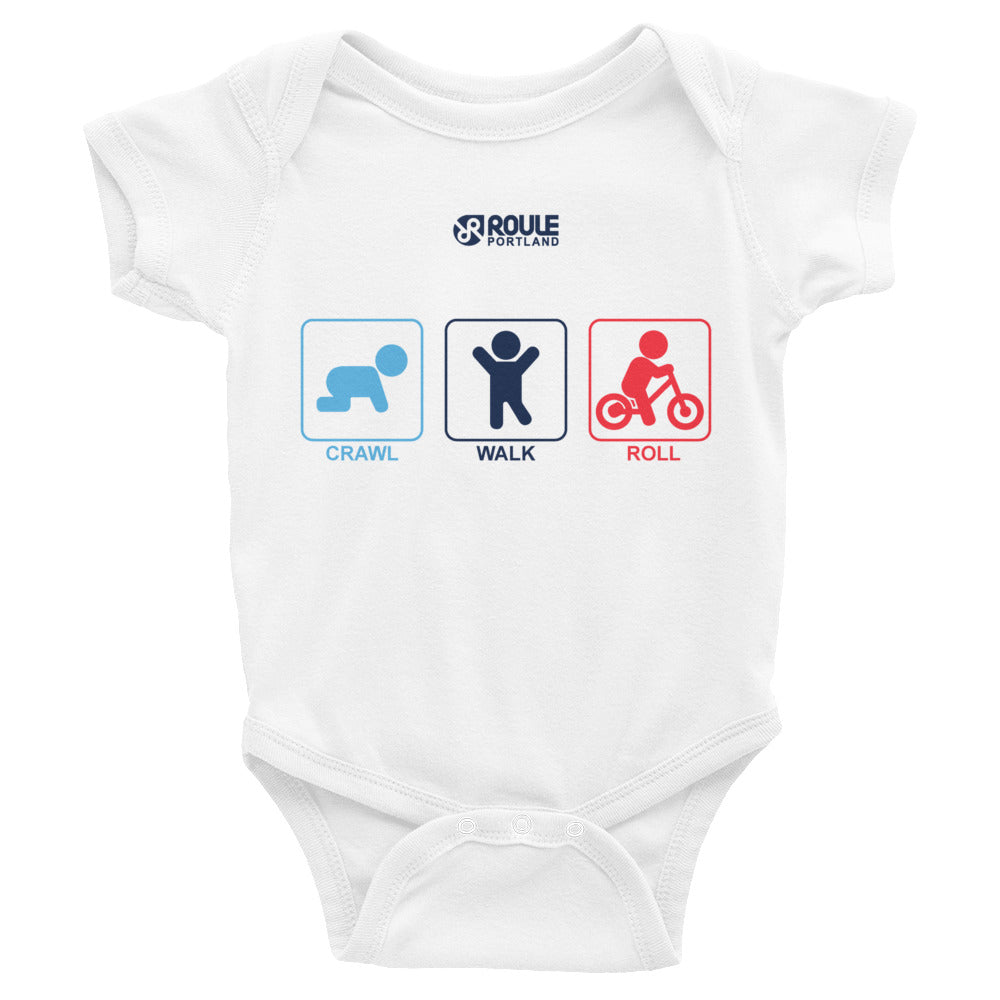 Infant Bodysuit - Crawl, Walk, Roll!