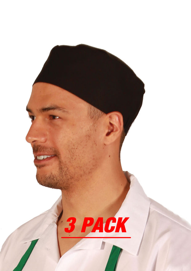 ITEM: 130, Adjustable Velcro Closure Beanie Mesh Hat, 3 Pack