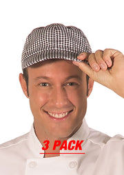 ITEM: 160, Adjustable Velcro Closure Chef Cap, 3 Pack