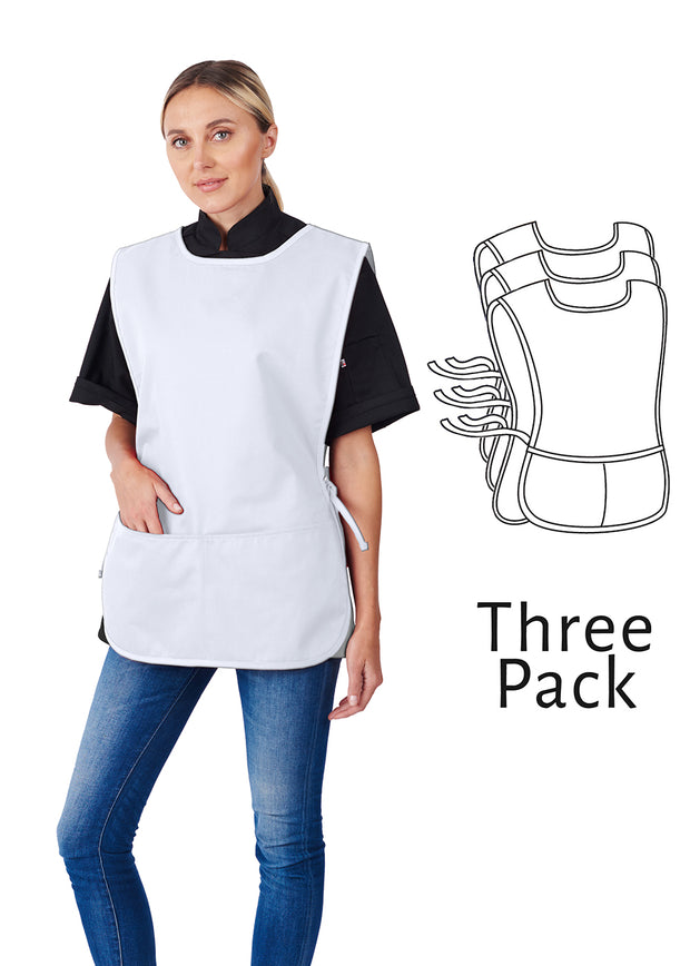 ITEM: 717, Cobbler Apron, Adjustable Side Ties, Two Divided Pockets, 3 Pack