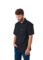 HiLite 6 Pack Cook Shirt - Multi Purpose Utility Shirt , Short Sleeve - Black 440BK