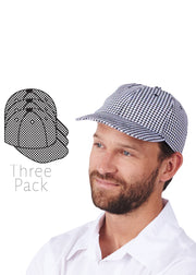 Adjustable Velcro Closure Chef Cap 3pack