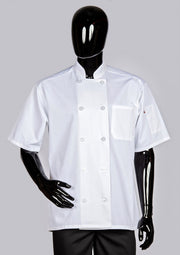 ITEM: 540WH, Classic Chef Coat Short Sleeve-White, 6 Pack