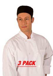 HILITE 3 Pack Classic Chef Coat Long Sleeve - White 550WH