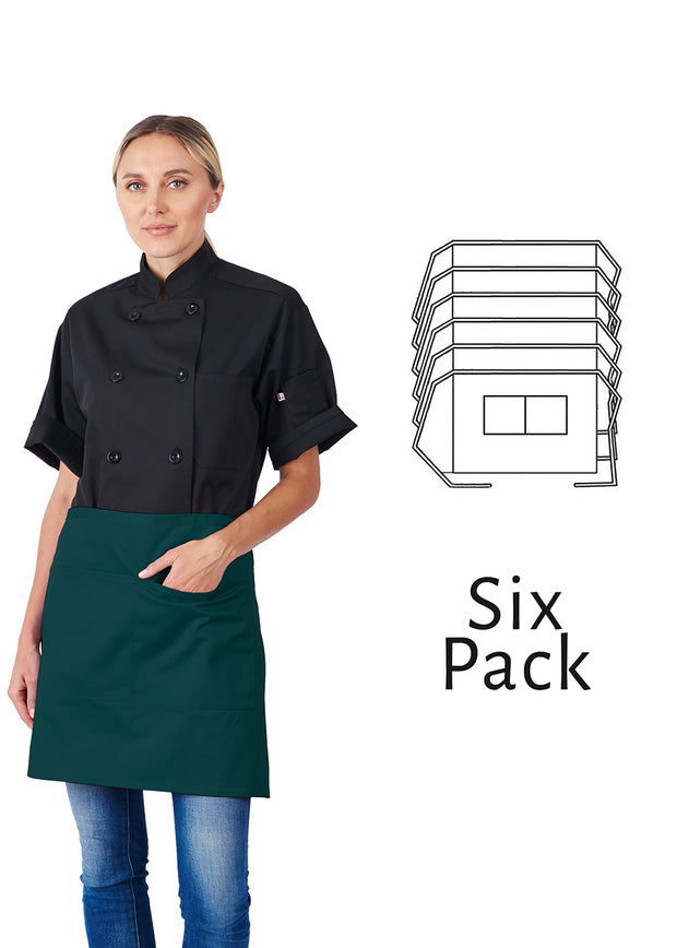 ITEM: 930, 1/2 Bistro Apron, Two Center Pockets, 6 Pack