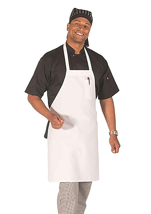 HiLite 6 Pack Fixed Neck Economy Bib Apron - Pencil Pocket - Wrinkle Resistant Unisex - 811