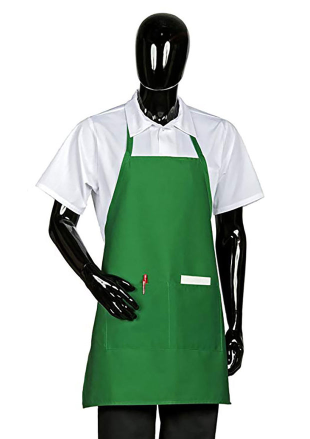 HiLite 3 Pack Fixed Neck Bib Apron - Two Pockets - Wrinkle Resistant Unisex - 822P2