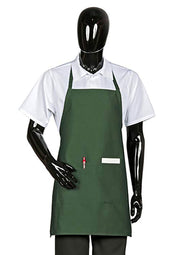 HiLite 6 Pack Fixed Neck Bib Apron - Two Pockets - Wrinkle Resistant Unisex - 822P2