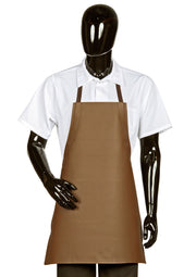Hilite 6 Pack Heavy Duty Adjustable PVC Vinyl Bib Apron - Brown - 855A