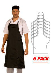 ITEM: 866A, Adjustable Heavy Duty PVC Coated Nylon, Waterproof All Purpose Bib Apron, 6 Pack