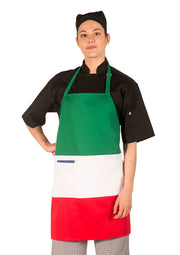 ITEM: 877, Adjustable Neck Tri-Color Apron, Two Center Pockets, 1 Pack