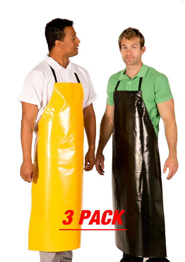 ITEM: 888HDA, Adjustable Janitorial & Chemical Bib Apron Extra Long, Waterproof, 3 Pack