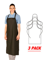 HiLite 3 Pack Adjustable Polyurethane Janitorial Apron Extra Long, Waterproof 899XLA