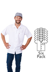 ITEM: 430WH, Utility Shirt, Short Sleeve - White, 6 Pack