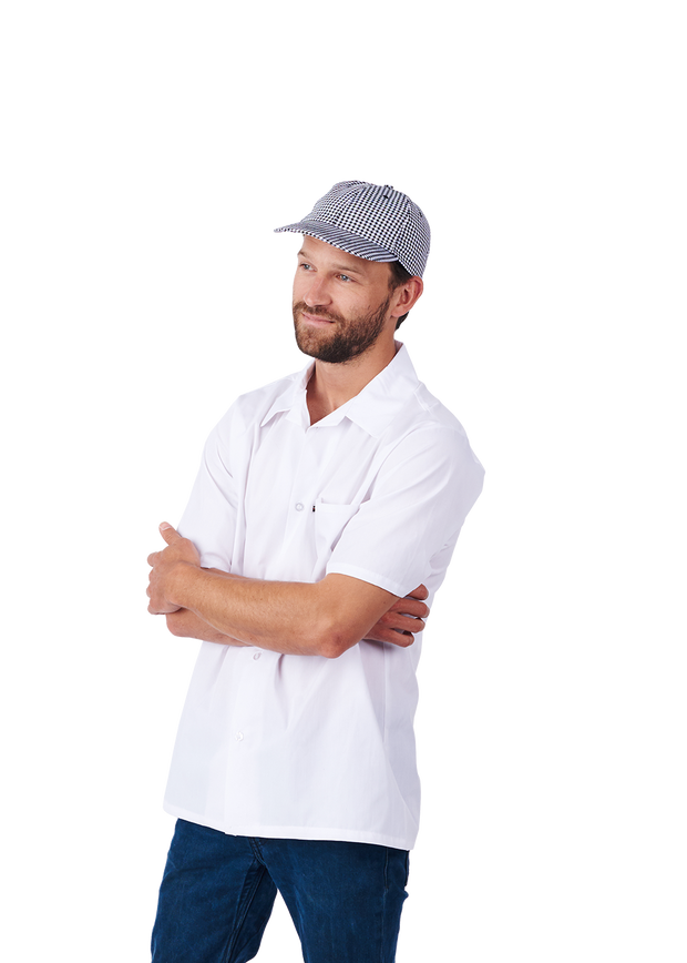 HiLite 6 Pack Cook Shirt,  Utility Shirt, Short Sleeve - White 430WH