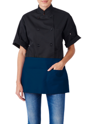 ITEM: 970, Waist Apron, Three Fold-Up Pockets, 6 Pack