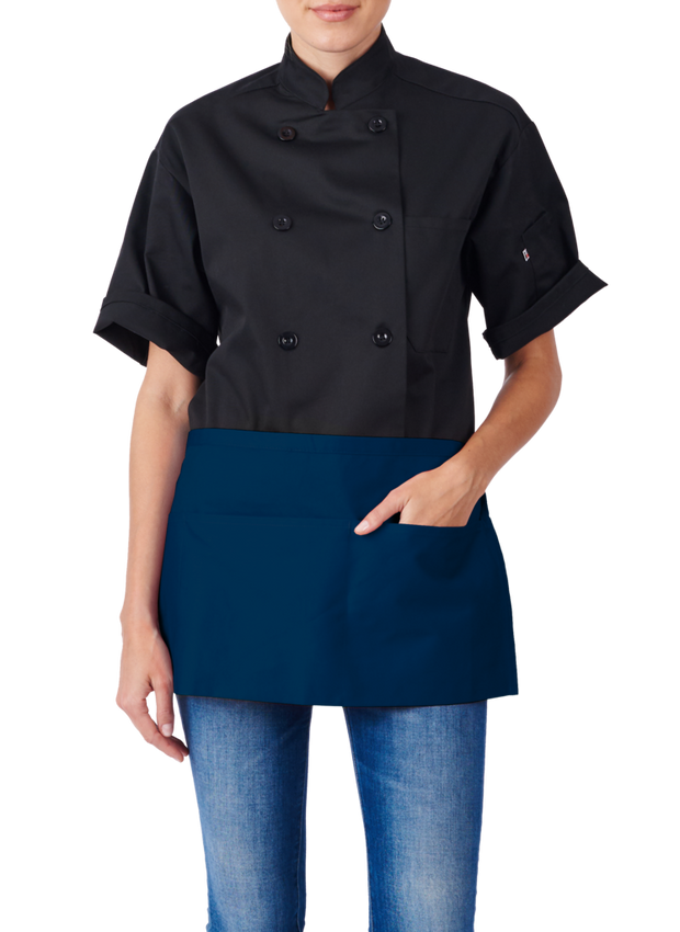 HiLite 6 Pack Waist Apron - Three Pocket Waiter Waitress Tool Pocket Apron Unisex - 970