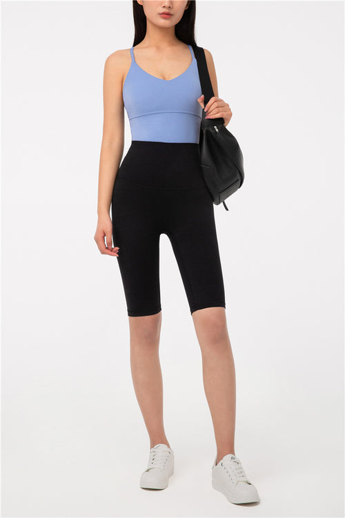 High-Waist Hustle Bicycle Shorts