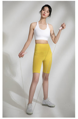 High-Waist Bustle Bicycle Shorts