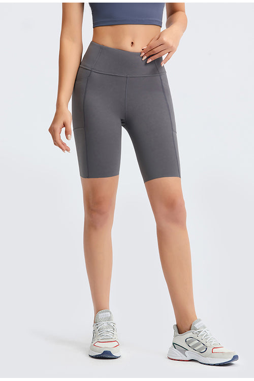High-Waist Grit Bicycle Shorts