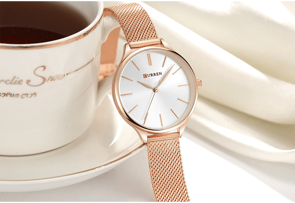 Curren Milanese Steel Top Luxury Women Watch