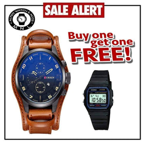 Curren Top Luxury Wrist Watch WITH FREE CASIO WATCH