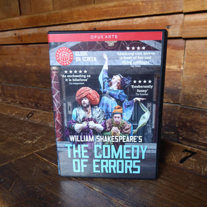 DVD of Shakespeare's Globe 2014 production of The Comedy Of Errors. Performed and recorded in Shakespeare's Globe.